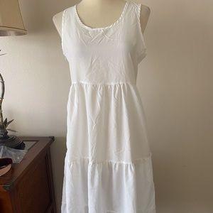 NWOT Sheer White Slip Dress Small